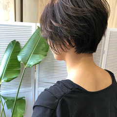 ナチュラル 黒髪 ショート パーマ ヘアスタイルや髪型の写真・画像