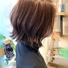 ナチュラル ボブ アッシュグレージュ 透明感カラー ヘアスタイルや髪型の写真・画像