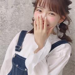 秋 ヘアアレンジ ガーリー ミディアム ヘアスタイルや髪型の写真・画像