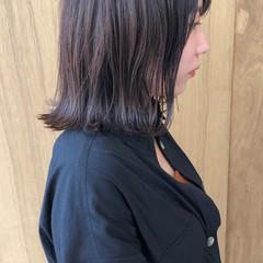 切りっぱなしボブ ショートヘア ショートボブ インナーカラー ヘアスタイルや髪型の写真・画像