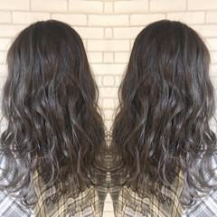パーマ ミディアム トリートメント ナチュラル ヘアスタイルや髪型の写真・画像