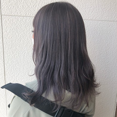 フェミニン ピンク ブルーラベンダー ピンクラベンダー ヘアスタイルや髪型の写真・画像