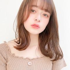 小顔ヘア レイヤーカット 透明感 インナーカラー ヘアスタイルや髪型の写真・画像