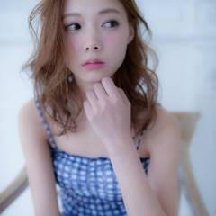 モテ髪 ミディアム コンサバ イノセントカラー ヘアスタイルや髪型の写真・画像