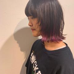 ニュアンスウルフ ウルフ ミディアム ウルフカット ヘアスタイルや髪型の写真・画像