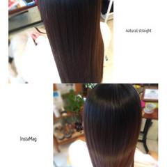 ストレート ロング 縮毛矯正 ナチュラル ヘアスタイルや髪型の写真・画像