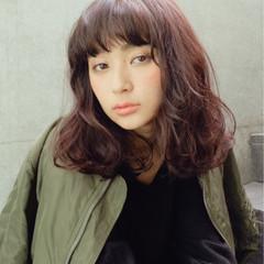 ストリート ミディアム ロブ 暗髪 ヘアスタイルや髪型の写真・画像