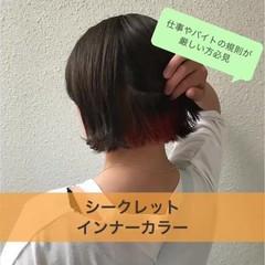 ショート ストリート 外国人風カラー ダブルカラー ヘアスタイルや髪型の写真・画像