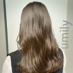 セミロング ブリーチなし ナチュラル オリーブ ヘアスタイルや髪型の写真・画像