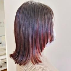 ピンク インナーカラー ニュアンスウルフ ウルフカット ヘアスタイルや髪型の写真・画像