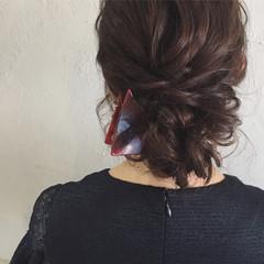ヘアアレンジ イルミナカラー 上品 ミディアム ヘアスタイルや髪型の写真・画像