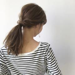 デート 女子会 ミディアム 簡単ヘアアレンジ ヘアスタイルや髪型の写真・画像