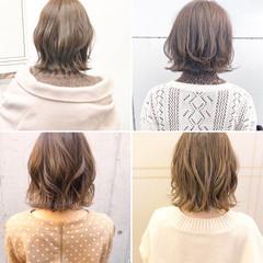 アンニュイほつれヘア ボブ 簡単ヘアアレンジ 切りっぱなし ヘアスタイルや髪型の写真・画像
