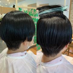 ナチュラル ショート 縮毛矯正 艶髪 ヘアスタイルや髪型の写真・画像