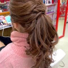 愛され ヘアアレンジ ポニーテール モテ髪 ヘアスタイルや髪型の写真・画像