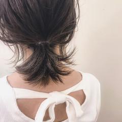女子会 ミディアム ヘアアレンジ リラックス ヘアスタイルや髪型の写真・画像