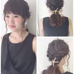 ヘアアレンジ 簡単ヘアアレンジ 前髪あり ショート ヘアスタイルや髪型の写真・画像