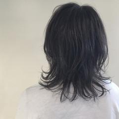 外ハネ ナチュラル アッシュ ハイライト ヘアスタイルや髪型の写真・画像