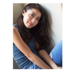 中村アン ナチュラル 波ウェーブ ロング ヘアスタイルや髪型の写真・画像