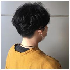 ショートパーマ マッシュショート ショートヘア ナチュラル ヘアスタイルや髪型の写真・画像