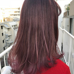 ストリート ピンク パープル レッド ヘアスタイルや髪型の写真・画像