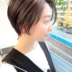 大人かわいい ベリーショート オフィス ナチュラル ヘアスタイルや髪型の写真・画像