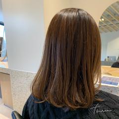ナチュラル セミロング デジタルパーマ ワンカールパーマ ヘアスタイルや髪型の写真・画像