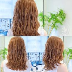 波ウェーブ 波巻き ゆるウェーブ ロング ヘアスタイルや髪型の写真・画像