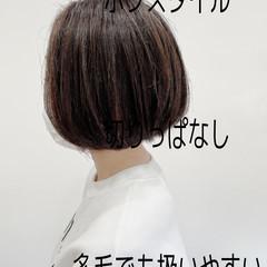 大人女子 ショートボブ ミニボブ ナチュラル ヘアスタイルや髪型の写真・画像