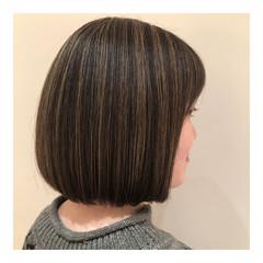 グレージュ 外国人風カラー ナチュラル ハイライト ヘアスタイルや髪型の写真・画像