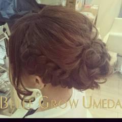 ナチュラル ヘアアレンジ 二次会 アップスタイル ヘアスタイルや髪型の写真・画像