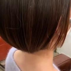 ボブ ストレート ナチュラル 縮毛矯正 ヘアスタイルや髪型の写真・画像