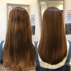艶髪 ナチュラル 髪質改善 セミロング ヘアスタイルや髪型の写真・画像