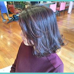丸顔 卵型 ボブ ストリート ヘアスタイルや髪型の写真・画像