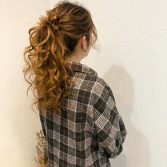 フェミニン ポニーテール ヘアアレンジ ブライダル ヘアスタイルや髪型の写真・画像