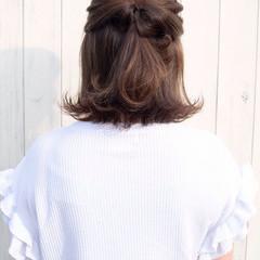 結婚式 ストリート ヘアアレンジ ボブ ヘアスタイルや髪型の写真・画像