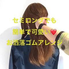 パーティ 簡単ヘアアレンジ フェミニン ヘアアレンジ ヘアスタイルや髪型の写真・画像