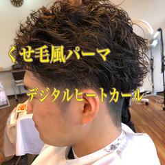 メンズカット ツーブロック 黒髪ショート ナチュラル ヘアスタイルや髪型の写真・画像