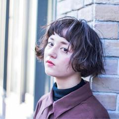 色気 ボブ 大人女子 パーマ ヘアスタイルや髪型の写真・画像