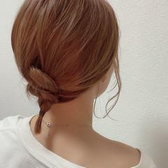 ヘアアレンジ ガーリー デートヘア ボブ ヘアスタイルや髪型の写真・画像
