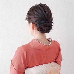 パーティ ヘアアレンジ 和装 ミディアム ヘアスタイルや髪型の写真・画像