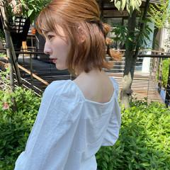 簡単ヘアアレンジ 外ハネ ナチュラル セルフヘアアレンジ ヘアスタイルや髪型の写真・画像
