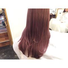 ストリート 外国人風 ピンク パープル ヘアスタイルや髪型の写真・画像