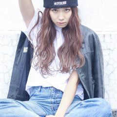 フェミニン 外国人風 ストリート グラデーションカラー ヘアスタイルや髪型の写真・画像
