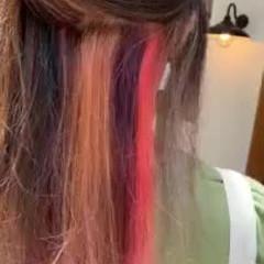 ゆるふわ 大人かわいい グラデーションカラー モテ髪 ヘアスタイルや髪型の写真・画像
