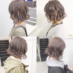 ヘアアレンジ オフィス デート ボブ ヘアスタイルや髪型の写真・画像