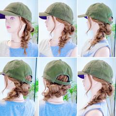 ロング 三つ編み ヘアセット くるりんぱ ヘアスタイルや髪型の写真・画像
