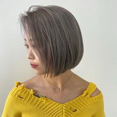 ショートヘア ショートボブ ボブ ブリーチ ヘアスタイルや髪型の写真・画像
