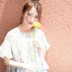 女子会 モテ髪 ナチュラル ヘアアレンジ ヘアスタイルや髪型の写真・画像