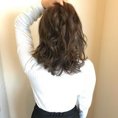 外国人風カラー 春 エレガント ミディアム ヘアスタイルや髪型の写真・画像